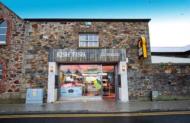 Exterior shot of the Kish Fish store in Howth